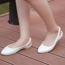 ab985be65a450 Crocs card Luo Chi women s shoes summer new Eve shallow mouth flat shoes  baotou shoes casual