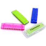 包邮盒装正品  乐器 儿童口琴 出口玩具10孔 布鲁斯初学口琴 彩色
