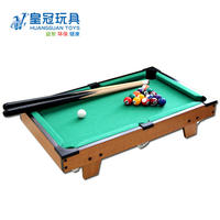 Crown Mini Parent-child Interactive Fancy Wooden Small American English Pool Table Children's Billiard Toys