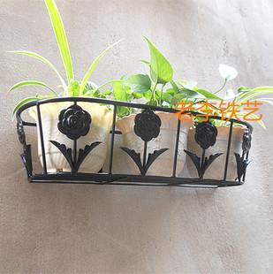 铁艺花架 阳台客厅壁挂架 挂壁式花盆架 可挂墙上吊兰绿萝花篮架