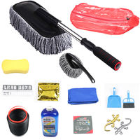 Car wash tool mop tweezers brush car brush dusting cleaning car mop sweeping ash telescopic long handle soft wax brush