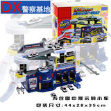 TOMY DOMEKA ACOUSTIC AND OPTICAL DX POLICE BUILDING, POLICE BASE, PARKING PARK, ALLOY CAR TRACK TOY