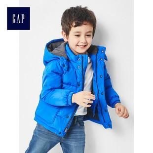 Gap男婴幼童 加厚连帽拉链羽绒服 儿童冬装外套面包服864643 W