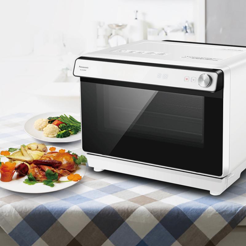 Panasonic/松下 NU-JK200W蒸烤箱30L家用台式二合一蒸汽烤箱一体