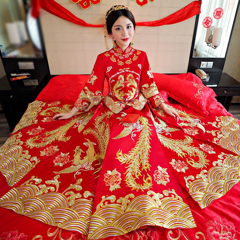 敬酒服旗袍结婚复古