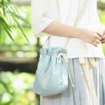 【十三余小豆蔻儿】[海水江崖]单肩斜挎手提绣花包包