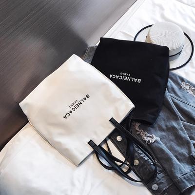 女包2018新款韩版ins文艺帆布包chic简约百搭布袋手提包单肩大包