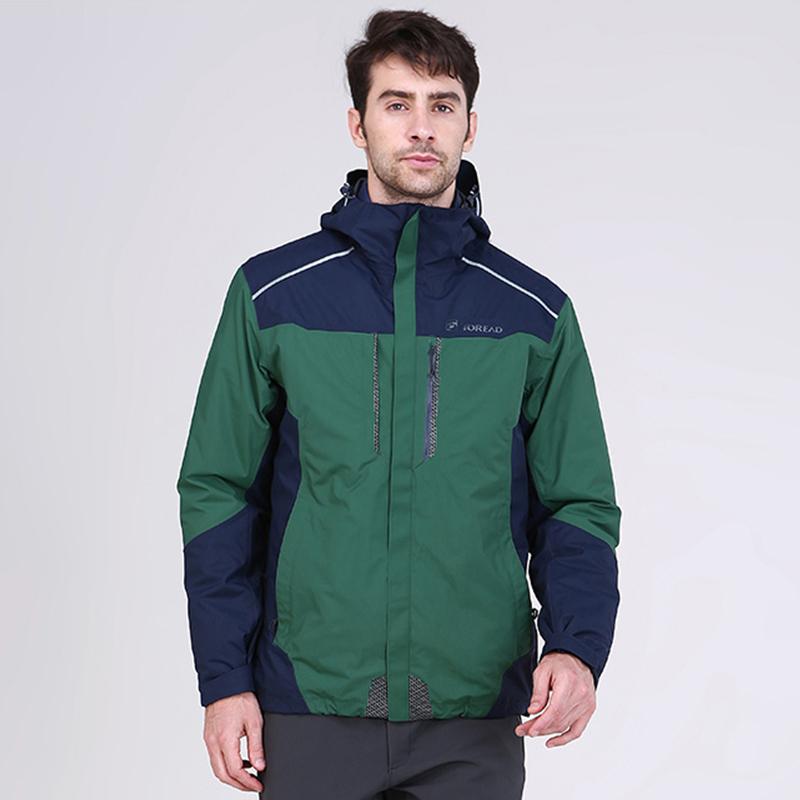 探路者冲锋衣男 冬季新款户外男女防水保暖套羽绒冲锋衣KAWF91503
