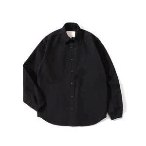 Pureピュア oversize 纯黑  纯棉 宽松 版型  牛津纺舒适百搭衬衫