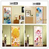 Door stickers, wooden doors, Chinese style, new self-adhesive wardrobe stickers, decorative painting, waterproof door stickers, sliding door, dormitory