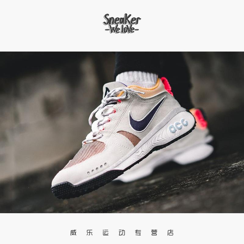 耐克Nike ACG Dog Mountain 姜黄色机能男鞋复古运动跑步鞋AQ0916