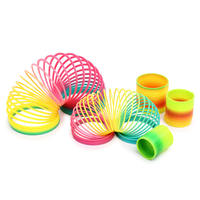Rainbow circle toy spring ring stack ring baby toy 1-3-6 years old puzzle early education children rainbow elastic ring