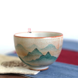 Japanese-style ceramics 茗 cup hand-painted Yuanshan Zhiye Chai burning single cup master cup Jingdezhen Kungfu tea set