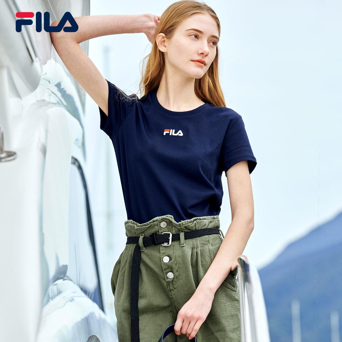 FILA斐乐官方短袖t恤女2020夏季新款短袖女ins潮休闲运动t恤