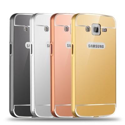 三星SM-G7106手机壳SMG7108V保护套G7109金属边框镜面后盖外壳