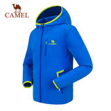 CAMEL/Camel children's soft shell clothing outdoor windproof boys and girls comfortable warm climbing clothing