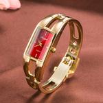 时尚潮流行女士手镯腕表 简约休闲石英防水电子表 韩国版配饰手表