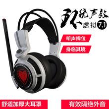 包邮游戏耳机7.1声道头戴式震动带麦听声辩位网吧电竞重低音