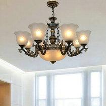 欧式吊灯奢华别墅客厅灯复古卧室灯简欧田园铁艺灯饰美式树脂灯具