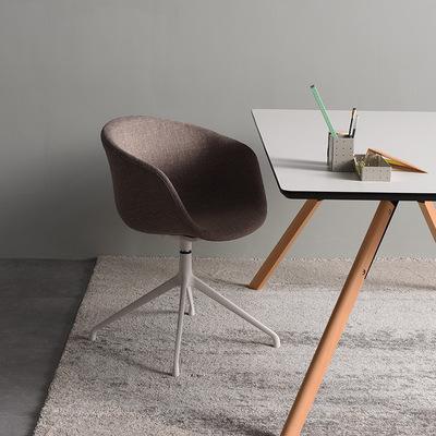 休闲转椅单人简约现代电脑凳子滑轮会议室布艺椅子靠背职员办公椅网友购买经历