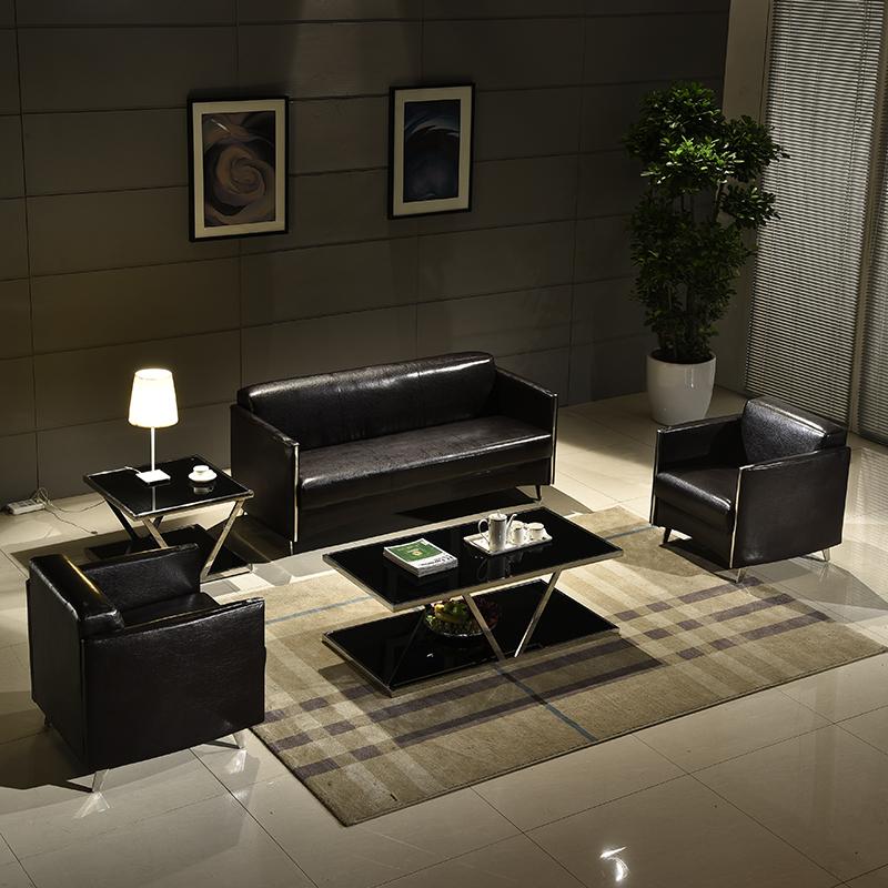 沙发美容院接待会客区简约办公室沙发茶几组合洽谈休息区小型沙发