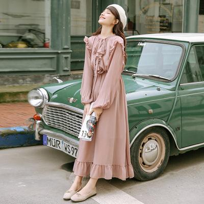 夏季连衣裙长款过脚踝超长裙到脚踝学生复古超仙长裙 00后 森系