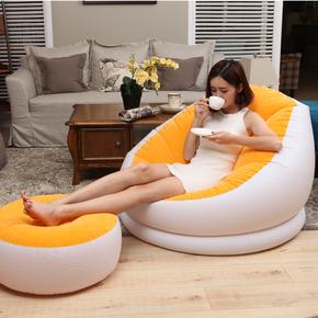 加厚出租房懒人沙发可坐冲气情侣单人午休床家用室内圆形靠背小椅