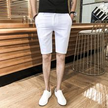 夏季男士休闲五分短裤发型师韩版修身七分中裤潮百搭5分英伦西裤