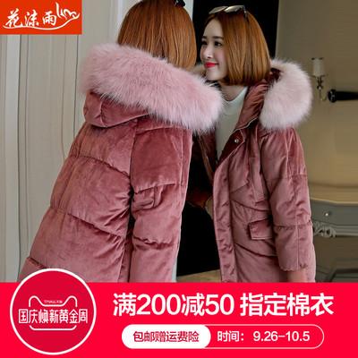 反季棉衣女新款2018冬装韩版中长款棉袄羽绒棉服宽松bf加厚外套潮