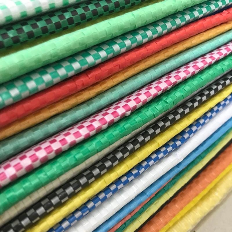 定做彩色编织袋缠绕布 颜色编织布片筒料 物流打包蛇皮袋 批