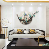 Wall decoration creative new Chinese wall decoration living room wall wall wall decoration dried flower wall decoration Chinese pendant