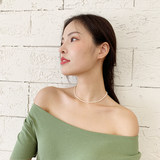 Pearl necklace 2019 new classic royal natural small rice grain shape young fashion clavicle neck necklace jewelry