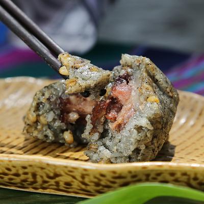 贵州黔西南布依灰粽子 口感细腻 天然草木灰清香板栗肉粽 6个包邮