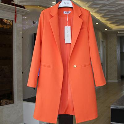 2018秋季新款小西装女韩版中长款长袖大码西服显瘦百搭小外套