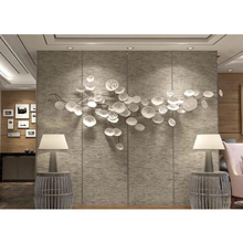 Tieyi wall hanging lotus leaf wall decoration Chinese style hanging decoration hotel background wall soft decoration household wall decoration hanging pieces