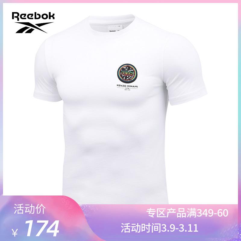 Reebok锐步运动经典R58 KENZO MINAMI CREW 男女休闲短袖T恤15274