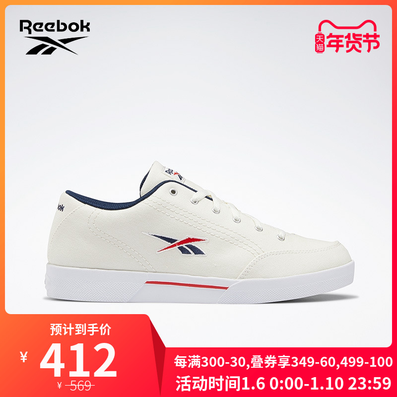 Reebok锐步官方 运动经典 SLICE CVS 男女网球经典鞋 EHB13