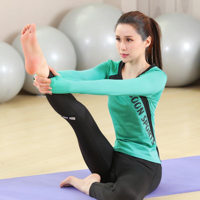 秋冬瑜伽服套装女专业运动2017新款初学者跑步健身服冬季长袖上衣