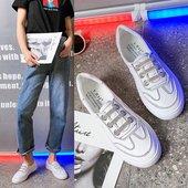 平底休闲鞋 一脚蹬懒人鞋 潮鞋 女2019夏季新款 网红小白鞋 百搭水钻鞋图片