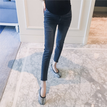 Pregnant women's wear new style of spring 2019 cut elastic abdominal support fashion pregnant women's jeans, pencil pants, trousers and pants
