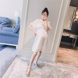 New summer clothes 2019 Korean style hollow-out lotus leaf edge hook flower fashion loose maternity hot mom dress