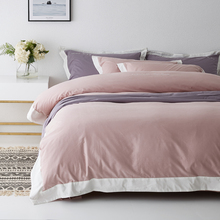 Four sets of cotton pure cotton bed, four sets of light wool Nordic wind pure color bed sheet, quilt cover, home textile in summer