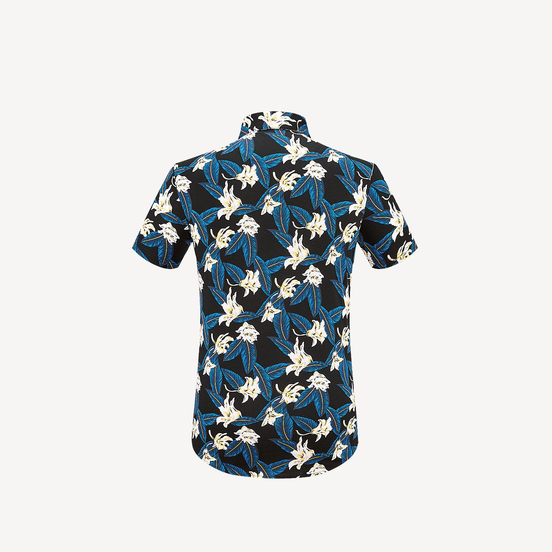 HLA/海澜之家时尚花纹款短袖针织衬衫2019夏季丝光棉短衬男