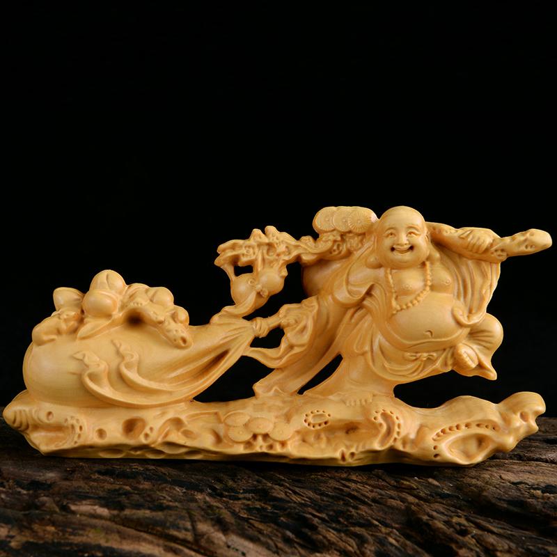 黄杨木雕佛像 弥勒