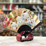 Authentic Golden Stone Workshop Wufu Linmen Fan Japanese Style Lucky Cat Decoration Sushi Shop Opening Home Improvement Housewarming Gifts