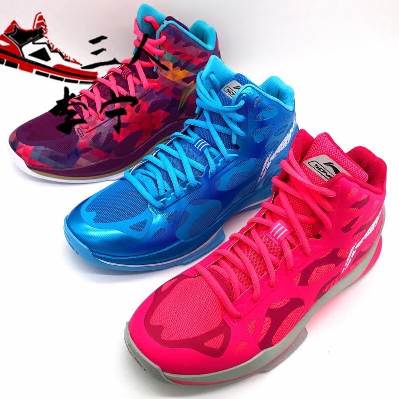 李宁女鞋音速3代篮球鞋CBA透气高帮中性文化鞋男女儿童文化蓝球鞋