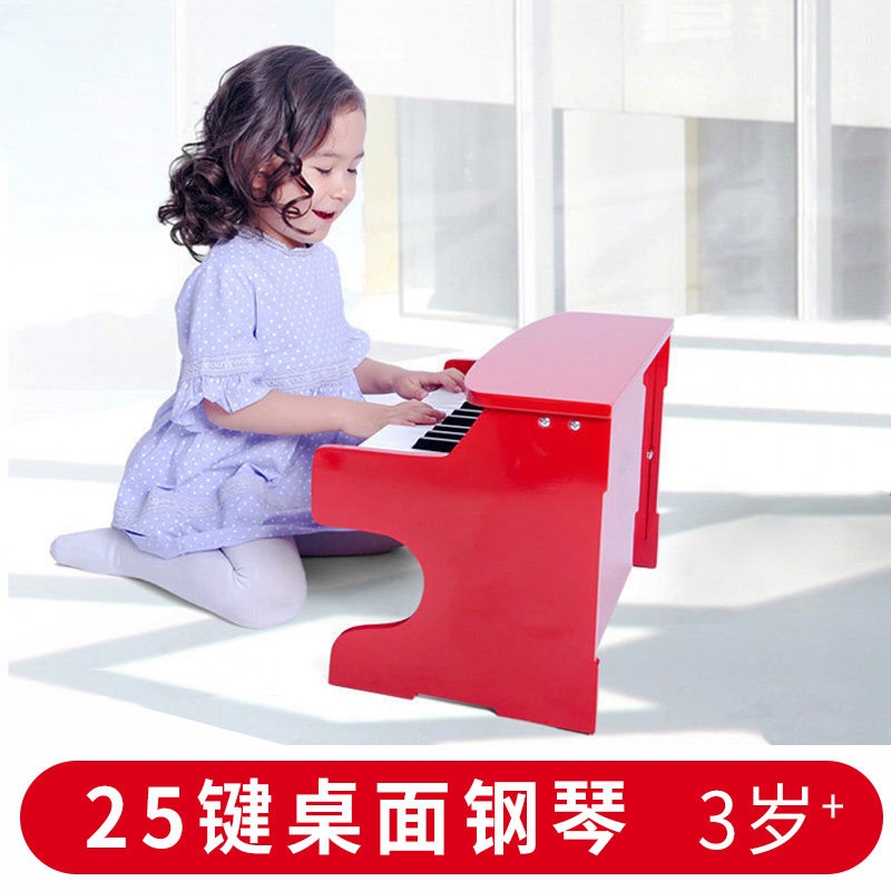 荷兰25键小钢琴3-10岁宝宝早教早旋律音律木制儿童 音乐益智玩具