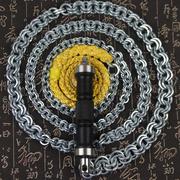304不锈钢 鞭子响鞭健身甩鞭初学麒麟鞭铁鞭螺母鞭子摔鞭大全钢鞭