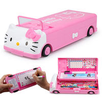 Hello Kitty Pupils Stationery Box Girl Princess Multifunction Pen Box First Grade Kindergarten Children Pencil Case Female
