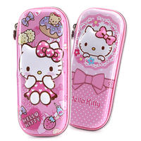HelloKitty children's pencil bag primary school pencil case princess pencil case girl stationery box multi-function stationery bag